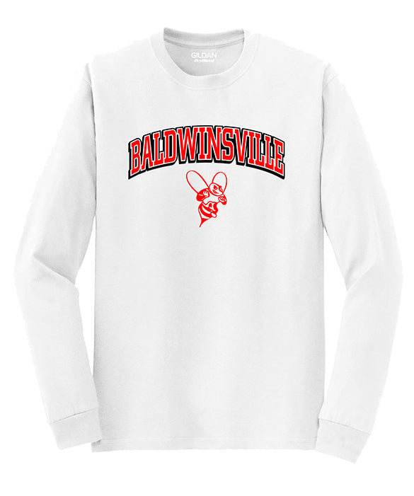 "Two-Color ""Baldwinsville"" White Long-Sleeve"