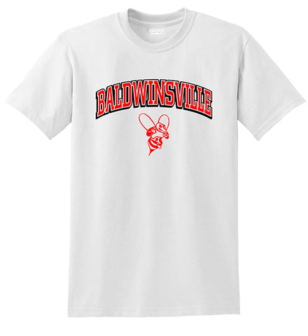 "Two-Color ""Baldwinsville"" White Tees"