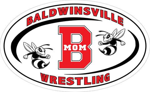 """Baldwinsville Wrestling 'Mom'"" Decal"