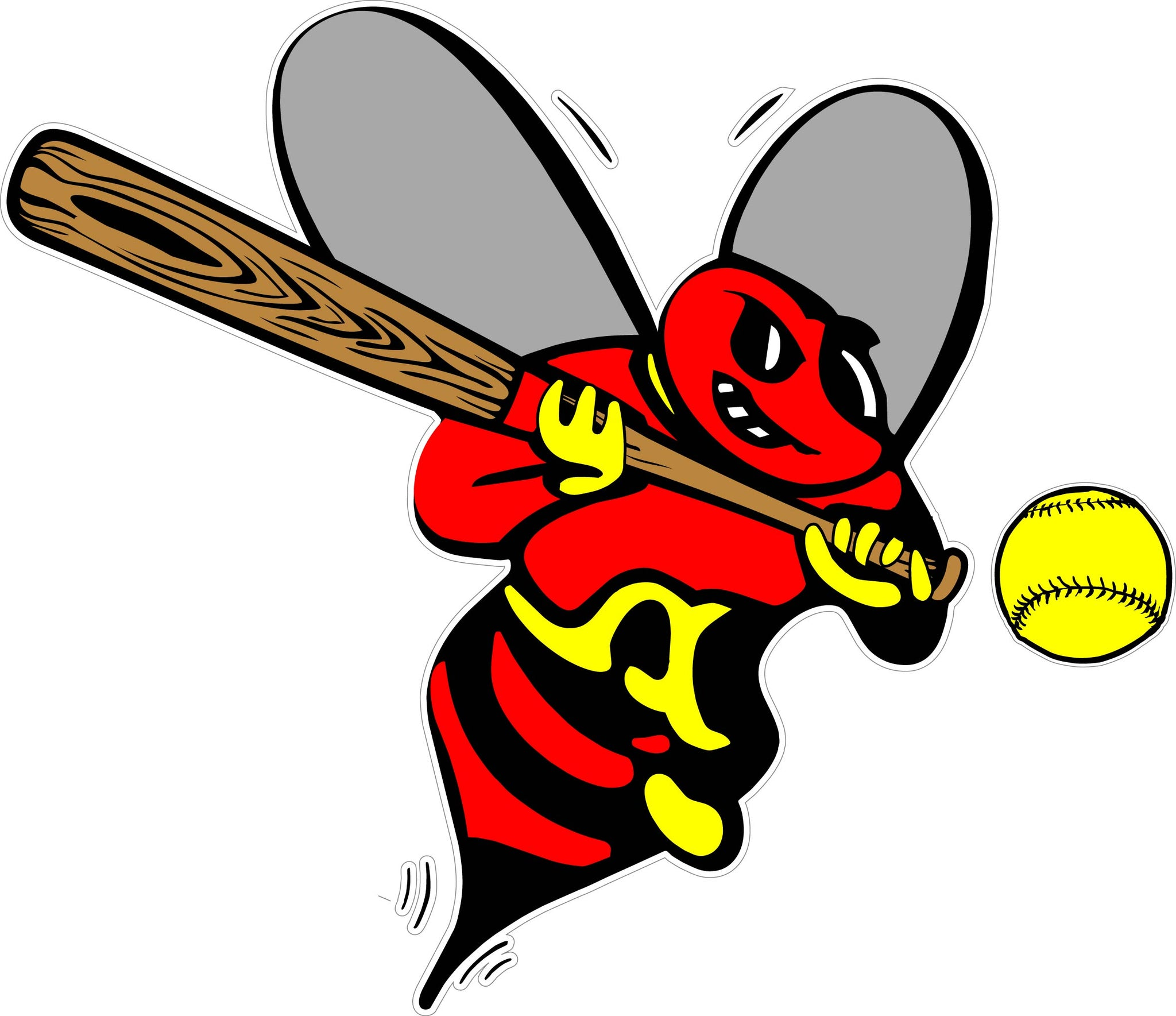 """Ball, Bat, & Bee"" Decal"