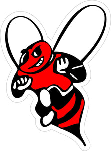 Two-Color Bee Logo Decal