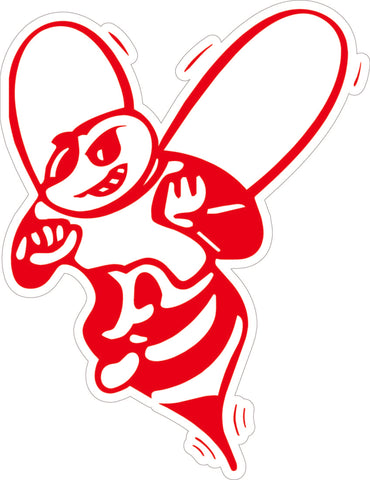 Red Bee Decal