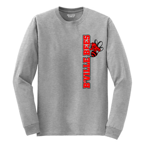 """B'Ville Bees"" Left Side Logo Long-Sleeve"