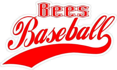 """Bees Baseball"" Decal"