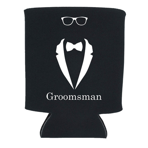 """Groomsman""/""Best Man""/""Married Man"" Koozies"