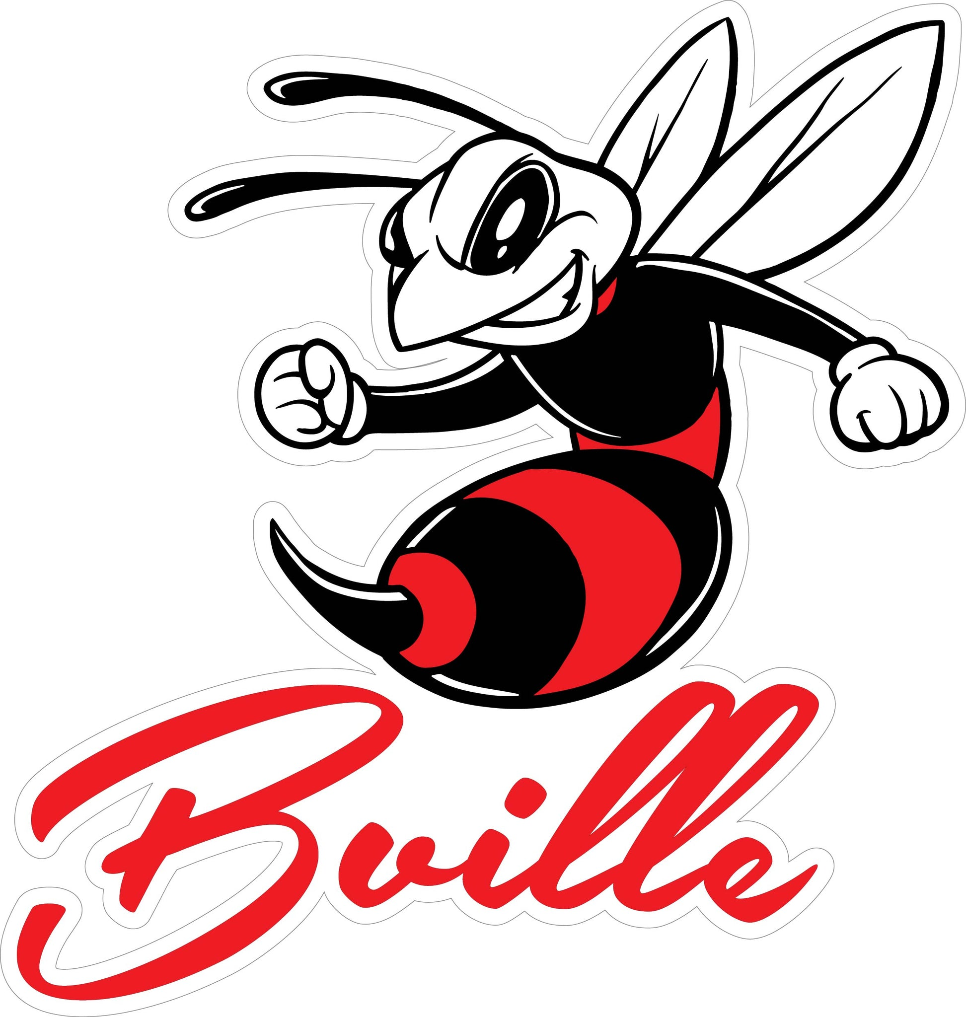 """Bville"" Bee Generic Decal"