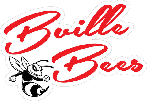 """Bville Bees"" Cursive Decal"