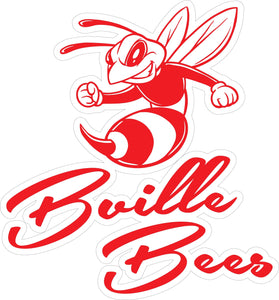 """Bville Bees"" Cursive (Red) Decal"