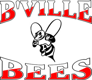 """B'VILLE BEES"" Red/White Decal"
