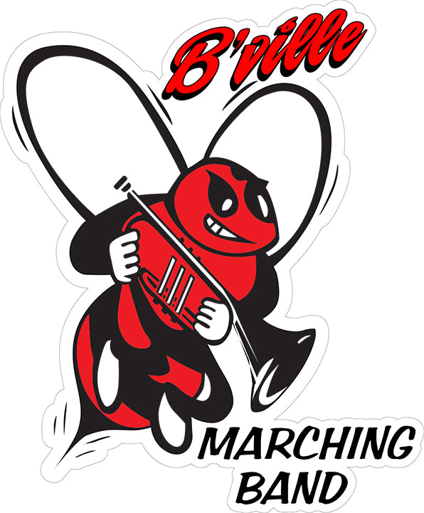 """B'Ville Marching Band"" Decal"