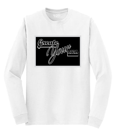 Single-Color Logo Custom Long-Sleeve Shirt