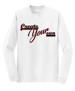Two-Color Logo Custom Long-Sleeve