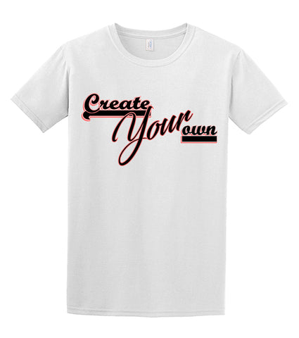 Two-Color Logo Custom Unisex T-Shirt