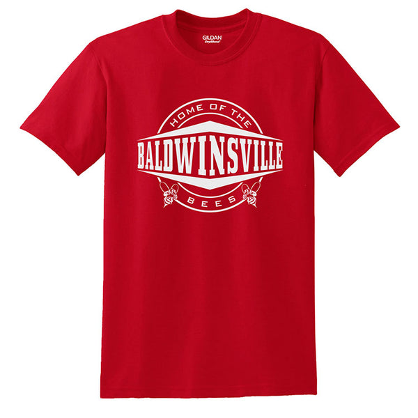 """Home of the Baldwinsville Bees"" T-shirts"