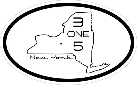 """New York 315"" Decal"