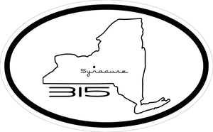 """Syracuse 315"" Decal"