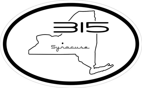 """Syracuse 315"" v.3 Decal"