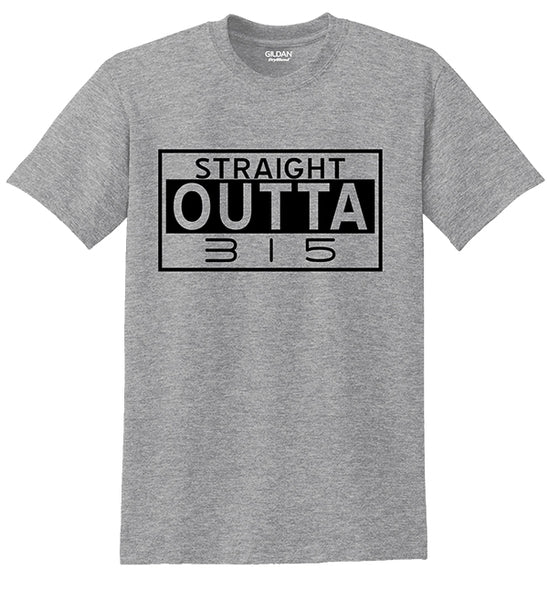 """Straight Outta 315"" T-shirts"