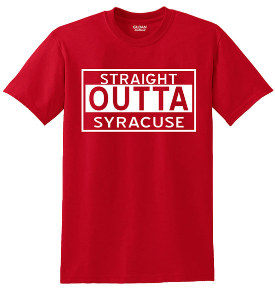 """Straight Outta Syracuse"" T-shirts"