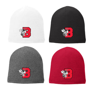 "Embroidered B'ville ""B"" & Logo Winter Beanie Hat"