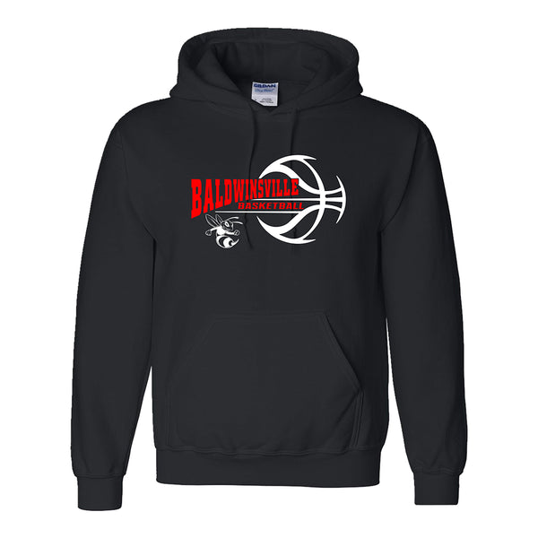 """Baldwinsville Basketball"" Dry-blend Hooded Sweatshirt"