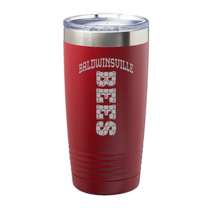"""Baldwinsville Bees"" Honeycomb 20 oz. Insulated Tumblers"