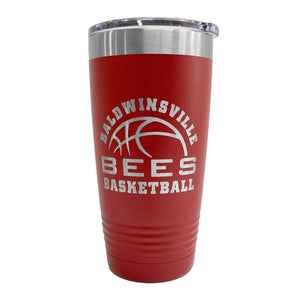 """Baldwinsville Bees Basketball"" 20oz. Insulated Tumbler"