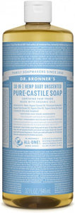 Pure-Castile Liquid Soap 18-in-1 Baby Unscented