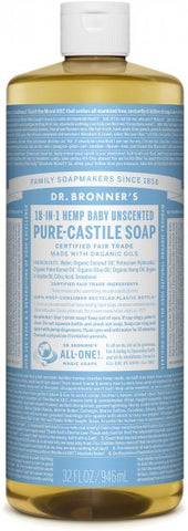 Dr Bronner's Organic Pure-Castile Soap, 18-in-1 Unscented