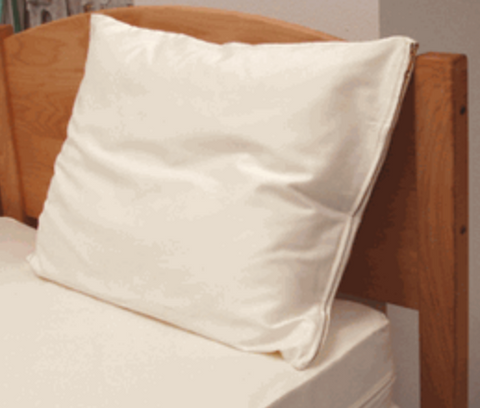 "Organic Cotton Zipper ""Barrier"" Pillow Protector"