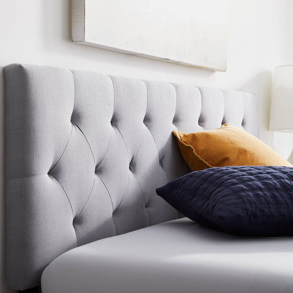 WEEKENDER™ REED UPHOLSTERED HEADBOARD - KING - BLUE GREY