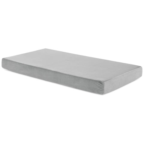 "Brighton 6"" Gel Memory Foam Mattress with Grey Velour Cover"