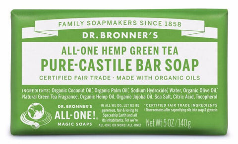 Pure-Castile Soap All-in-One Hemp Almond Bar Soap