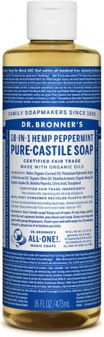 Pure-Castile Soap 18-in-1 Peppermint