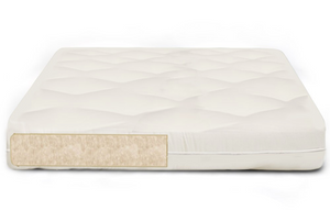"Natural Virgin 8"" Wool Teddy Futon Mattress"