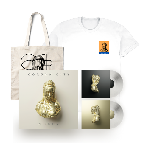Olympia 2LP, Tote & White T-Shirt