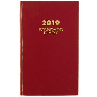 "AT-A-GLANCE 2019 Standard Diary, Daily Reminder, 8-3/16"" x 13-7/16"", XLarge, Red (SD38178) 8-3/16"" x 13-7/16"""