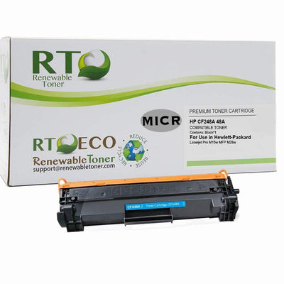 Renewable Toner Compatible MICR Toner Cartridge Replacement for HP CF248A 48A