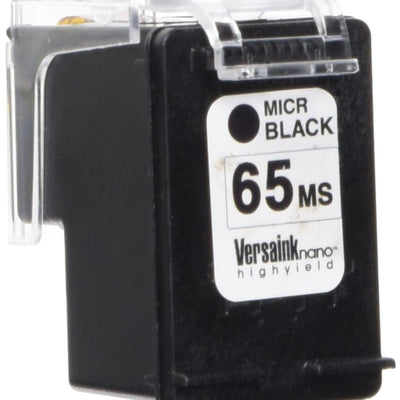 VersaInk 65 Nano HP Ms Cartridge for HP Deskjet 2655 3755 Printers Ink MICR Black