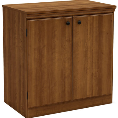 South Shore Small 2-Door Storage Cabinet with Adjustable Shelf, Morgan Cherry Morgan Cherry Finish