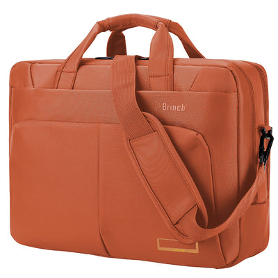 Laptop Bag,BRINCH(TM) 17.3 inch Nylon Waterproof Roomy Stylish Laptop Shoulder Messenger Bag Handle Bag Tablet Briefcase for 17-17.3 Inch Laptop/Tablet/MacBook/Notebook,Orange Orange 17.3 Inches