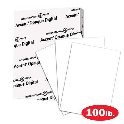 Accent Opaque Thick Cardstock Paper, White Paper, 100lb Cover, 271gsm, 8.5 x 11, 97 Bright, 1 Ream / 200 Sheets – Smooth, Heavy Card Stock (1188091R) 8.5x11 1 Pack