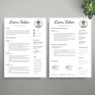 cv template cover letter template editable in microsoft word