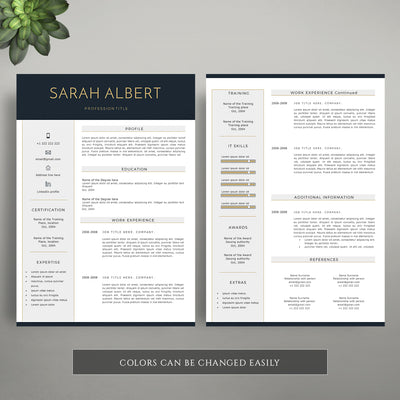 professional cv template with a matching cover letter template