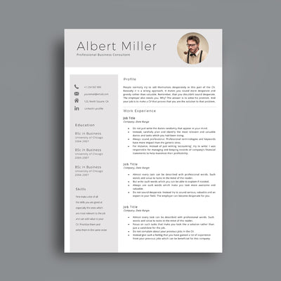 Professional Cv Template Cover Letter Editable In Ms Word Cvtemplatestore Co Uk