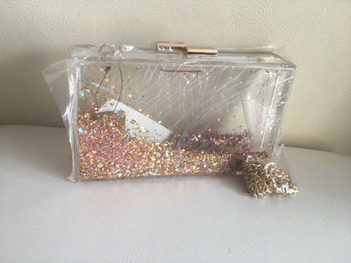 aquarium style women bag   with sparkles