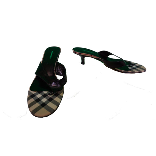 Burberry Heels - Black & Plaid