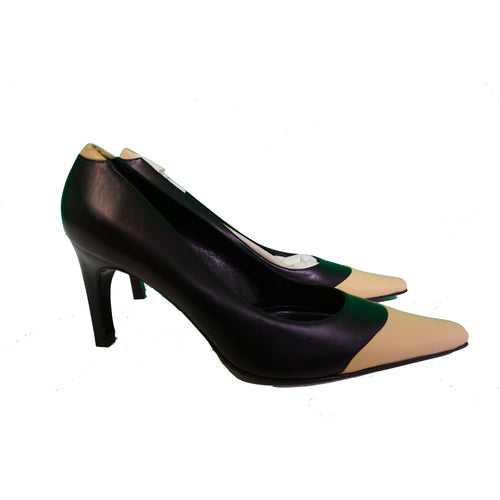 St. John Heels - Black & Tan