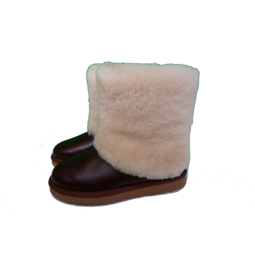 UGG Boots - Dark Brown/White Fur