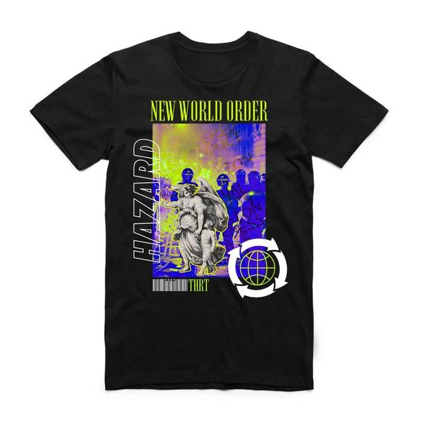NEW WORLD TEE BLK/GRN